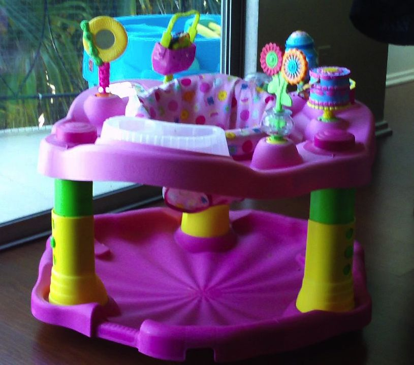 photo of an exersaucer for baby