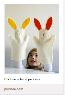 bunny hand puppets for baby play