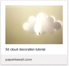 3D cloud as a nursery mobile