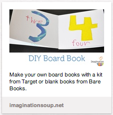 DIY Board Book for baby