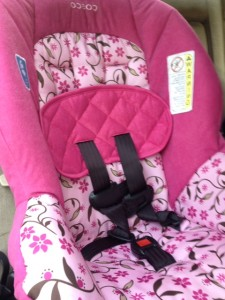 cosco pink car seat